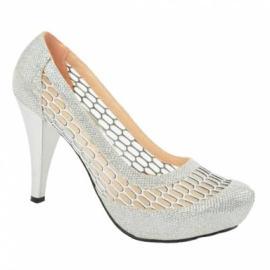 حذاء للعروس من ماركة (ايبروجان) متوسط العلو