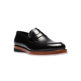 لوفر - حذاء سادة جلد طبيعي 100%