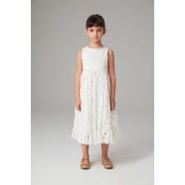 فستان أبيض شماعات الدانتيل