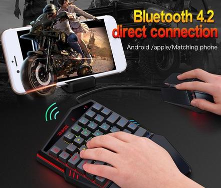 لوحة مفاتيح لاسلكية بلوتوث واحدة   مشغل بصري سلكي HXSJ K99